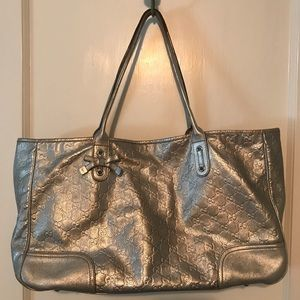 Gucci Leather Silvery Calfskin Tote